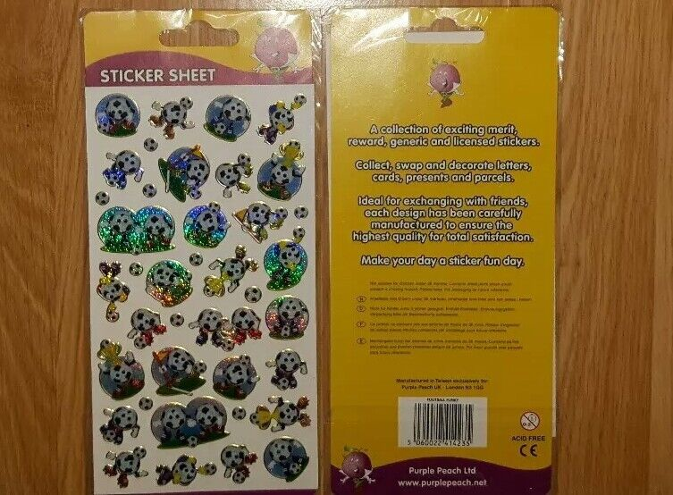 Football%2FSoccer+Sticker+Sheet+for+Kids+-+BRAND+NEW+IN+WRAPPING