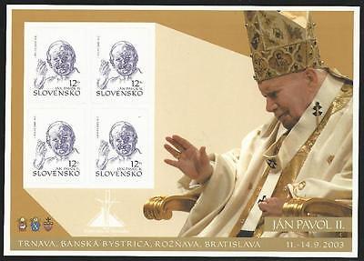 Slowakei aus 2003 ** postfrisch Folienblatt MiNr.466 SK - Papstbesuch!