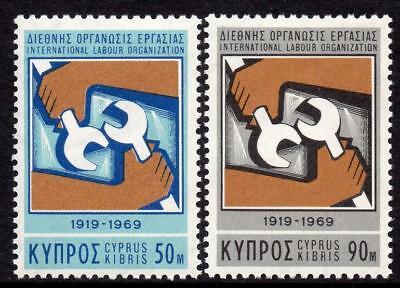Cyprus MNH 1969 SG327-28 50th Anniversary of I.O.L