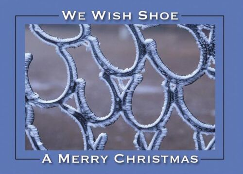 We Wish Shoe A Merry Christmas Frosty Horseshoe Farrier Christmas Cards