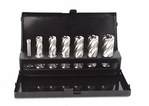 Annular cutter kit with metal case