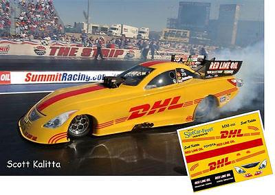 CD_MM_011 Scott Kalitta  DHL Funny Car 1:25 Scale Decals