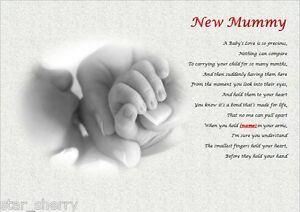 NEW BABY- MUMMY POEM (Laminated Gift)