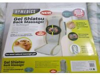 Homedics gel shiatsu back massager with deep heat