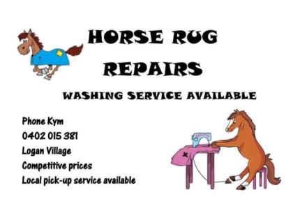 Horse rug washing and repairs.