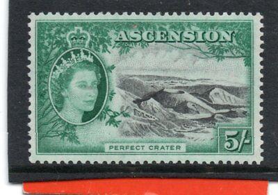 Ascension QE2 1956 5s black&blue-green sg 68 VLH.Mint