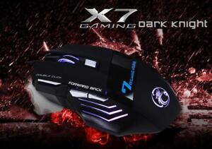Professional Double Click 7 Buttons 3200DPI Gaming Mouse USB Wir
