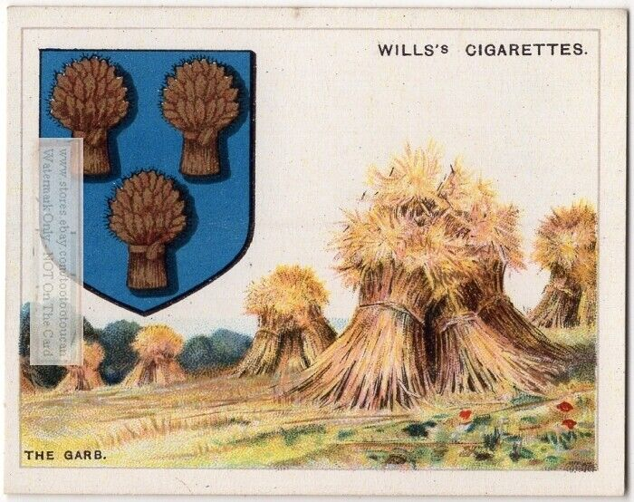 Garb Sheaf Of Grain Used On Coat Of Arms Or Family Crest 1920s Ad Card