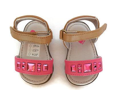 New Girls 1 Infant STRIDE RITE LIL Linnea Tan Pink Sandals Shoes Nib PG55427