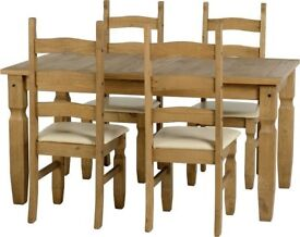 Corona Dining Set with 4 Chairs