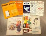 Sabena - lot documenten - periode 1950/1960 - timetables - s