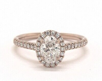 1.50 Ct. Halo Oval Cut Diamond Engagement Ring & Wedding Band G,VS2 GIA  3