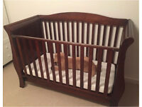 Baby toddler cot with mattress