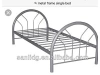 Metal Single Bed Frame, Used, No Mattress