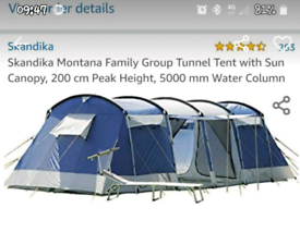 8 person camping tent and accessories.