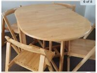 Foldaway Dining Table and Chairs - John Lewis