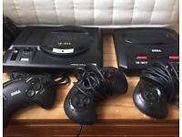 Sega mega drives unit and controller only
