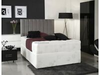 Cheapest Price Offered! Double Divan Bed Base With White Orthopedic Mattress *Best Selling Brand*