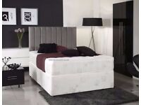 ❋★❋ EXPRESS SAME/NEXT DAY DELIVERY ❋★❋ NEW SINGLE DOUBLE AND KING DIVAN BED BASE + MATTRESS