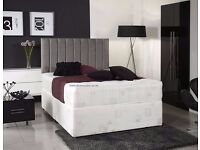 ★★ Great Value ★★ Double Divan Bed With Quality Orthopaedic Mattress Brand New