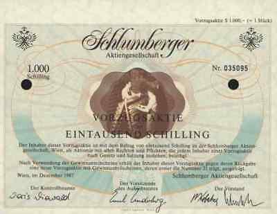 Schlumberger 1987 Wien Vöslau Goldeck 1000 ÖS Austria Leibwächter PFAU Underberg