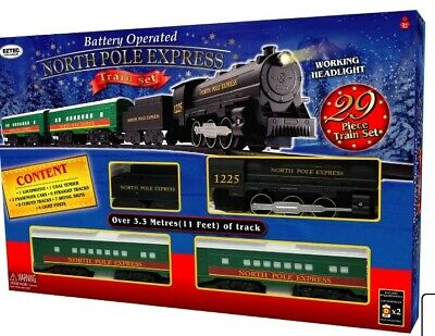 EzTec North Pole Express Christmas Train Set Battery Operated Classic Toy - NEW