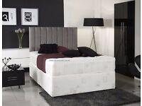 """GUARANTEED DISCOUNTED PRICE DOUBLE DIVAN BASE WITH MEDIUM FIRM 9"""" DEEP MATTRESS & FREE DELIVERY"""