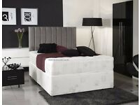 NEW DESIGN!! DOUBLE DIVAN BED WITH ORTHOPAEDIC MATTRESS!! SINGLE BED& KINGSIZE BED AVAILABLE
