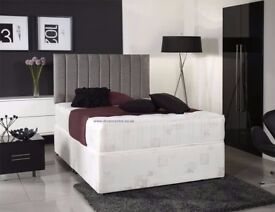 【SALE PRICE £89 】SINGLE,DOUBLE & KING SIZE DOUBLE DIVAN BED BASE WITH MATTRESSES