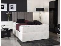 🌷💚🌷 STRONG DIVAN BASE 🌷💚🌷 DOUBLE DIVAN BED + DEEP QUILT MATTRESS - HEADBOARD /DRAWERS OPTION