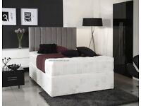 MEMORY FOAM SET - BRAND NEW DOUBLE BLACK DIVAN BED WITH MEMORY FOAM MATTRESS - GET IT TODAY