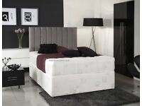 Brand New DOUBLE King size Luxury Divan Bed with 2000 POCKET SPRUNG MATTRESS