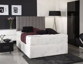 🌷💚🌷BRAND NEW 🌷💚🌷SUPERB OFFER: 4FT OR 4FT6 DOUBLE DIVAN BED WITH SUPER ORTHOPEDIC MATTRESS £139