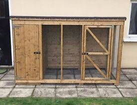 ++ Wooden dog kennel with side pen run Hen arks and rabbit hutches houses cages