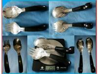 Malaysian Antique Sterling Silver Server Set