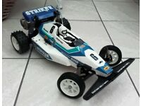**VINTAGE TAMIYA STRIKER RC BUGGY ROLLING CHASSIS - VIRTUALLY AS NEW!**