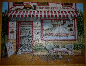 Cobble Hill Hamburger Haven Jigsaw Puzzle ..like NEW..500 pieces Cambridge Kitchener Area image 2