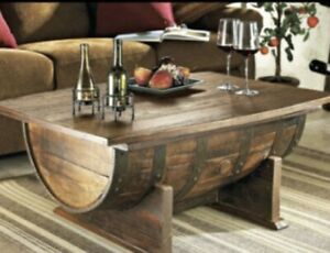 Rustic Wine Barrel Table