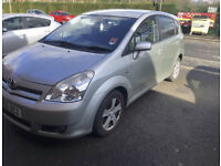 Toyota Verso 7 Seater Family car 1.6 Petrol