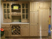 Solid Oak kitchen, oven, hob and sink
