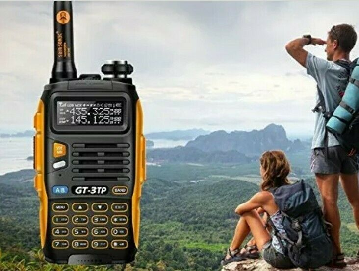 Handheld Police Radio Scanner 2-Way Triple Power Transceiver HAM Antenna UHF VHF