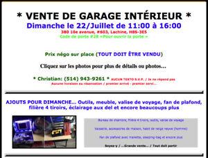 Vente de Garage intérieur - Dimanche 22/Juillet - Lachine