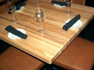 Butcher Block Solid Wood Tables