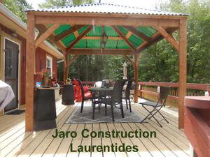 Abris spa jardin, gazébo, terrasse patio, sur mesure - Rive Nord