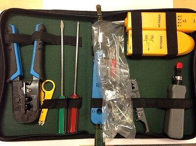 Cable Tool Kit Wireline Tracker Finder Tester Crimper Tone Generator Probe Set