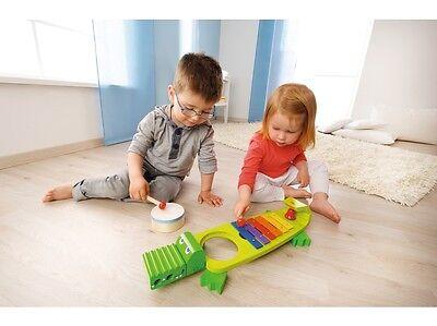 Haba Klang Kroko 302566 Musik Spielzeug ab 2 Jahre Krokodil Klangkroko Trommel