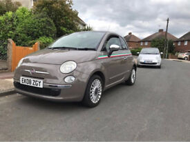FIAT 500 1.3 MULTI JET LOUNGE 3 DR X2 LOW MILES ONLY 41K GLASS ROOF £20 A YEAR TAX
