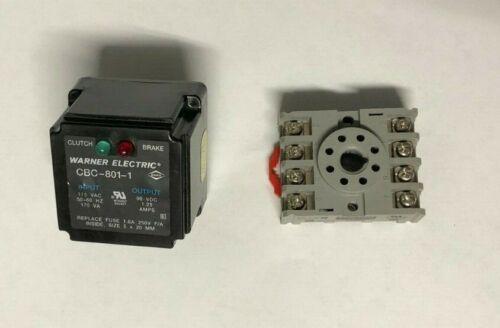 Warner Electric Clutch Brake CBC-801-1 with Dayton 5X852 Base!