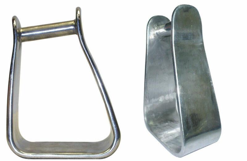 "Aluminum 3"" Angled Roper Stirrups"