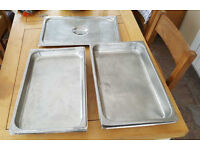 Large Stainless Steel Catering Trays Size 1